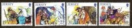 Jersey 1996 Yvertn°  754-757  (°) Oblitéré Used Cote 6,50 Euro Noël Christmas Kerstmis - Jersey
