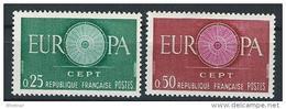 "FR YT 1266 & 1267 "" Europa "" 1960 Neuf** - France"