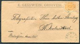 1891 Finland Gesswein Cover Orihvesi - Nikolaistad - 1856-1917 Russian Government