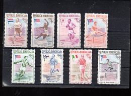 DOMINICAINE 444/448 + A 101/103** SUR LES J O DE MELBOURNE - Dominicaine (République)