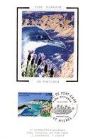"""FRANCE 1997 """" PUFFIN / PARC DE PORT-CROS """" Sur Carte Maximum En Soie. N° YT 3057. Parfait état CM - Briefmarken"""