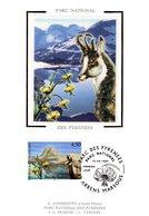 """FRANCE 1997 """" ISARD / PARC DES PYRENEES """" Sur Carte Maximum En Soie. N° YT 3056. Parfait état CM - Briefmarken"""