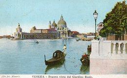 CPA VENEZIA - DOGANA VISTA DAL GIARDINO REALE - Venezia (Venice)