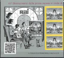 Italy. Scott # 3488 MNH Strip Of 3. (60th. Anniv. Of Carosello TV Show)  2017 - 6. 1946-.. Repubblica