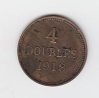 Guernsey Coin 4 Doubles 1918 - Guernsey