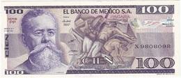 México 100 Pesos 27-1-1981 PP Pick 74.a UNC - México