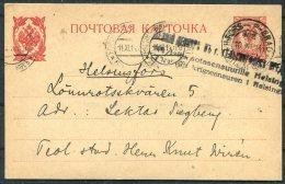 1914 Finland Stationery Postcard. Helsingfors - Petrograd Censor - 1856-1917 Russian Government