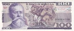 México 100 Pesos 27-1-1981 PV Pick 74.a UNC - México