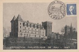 OBLIT. EXPO. PHILAT. PAU  10/47 - Commemorative Postmarks