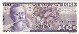 México 100 Pesos 27-1-1981 RN Pick 74.a UNC - México