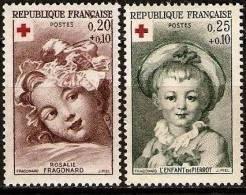 """FR YT 1366 & 1367 """" Croix Rouge """" 1962 Neuf** - France"""