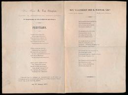 LEDEBERG - 1875 OPGEDRAGEN AAN BURGEMEESTER A.VAN OOTEGHEM  FEESTZANG - Historische Dokumente