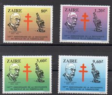 ZAIRE  Timbres Neufs ** De 1983 ( Ref 5289 ) Santé - Vaccin - Dr Koch - Zaire