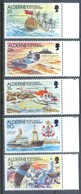 A255- ALDERNEY 1991 HISTORY OF LES CASQUETS LIGHTHOUSE. SHIP HELICOPTER BIRD GALJOEN. - Ships