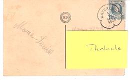 Marcophilie-1926-OBLITERATION WATERLOO TREFLE / KLAVERBLAD-CPA Waterloo-Mémorial Français De 1904 (scan) - Marcophilie