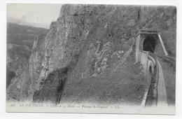 (RECTO / VERSO) LIGNE DE LA MURE EN 1907 - N° 468 - PASSAGE DE GLAPISSE - BEAU CACHET - CPA VOYAGEE - La Mure