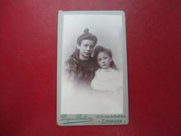 CDV FILLETTES SOEURS  LIMOGES PHOTO PROSPER BATIER - Cartes De Visite