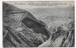 (RECTO / VERSO) LIGNE DE LA MURE EN 1915 - N° 562 - PASSAGE DE LA RIVOIRE A PIC SUR LE DRAC - BEAU CACHET - CPA VOYAGEE - La Mure