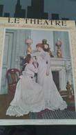 Affiche (dessin)  - THEATRE DE VAUDEVILLE - La COURSE DU FLAMBEAU - Acte 1er Mlle Bernou Et Mlle REJANE - Affiches