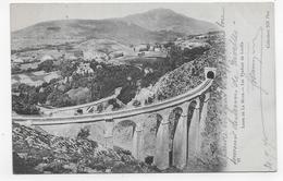 (RECTO / VERSO) LIGNE DE LA MURE EN 1907 - N° 97 - LES VIADUCS DE LOULLA - BEAU CACHET - CPA VOYAGEE - La Mure