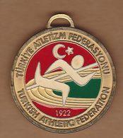 AC - TURKISH ATHLETIC FEDERATION MEDAL - MEDALLION - Athletics