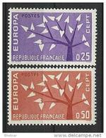 "FR YT 1358 & 1359 "" Europa "" 1962 Neuf** - Ungebraucht"