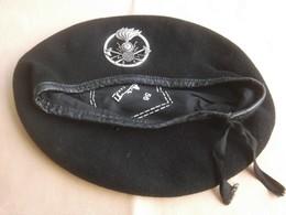 Basco Nero E.I. Di Fornitura Fregio 3° Btg. Trasmissioni Spluga Tg. 56 - Headpieces, Headdresses