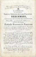 Dp ADEL  François BEECKMANS épse Baronne De FAVEREAU- RIDDER Vd ORDE V/h GULDEN SPOOR °A'WERPEN + MERKSEM 1874 - Religion & Esotérisme