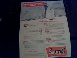 Tract Publicitee Machine A Laver Et Essoreuse Sauter Av De La Grande Armee Paris - Publicidad