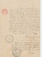 ZZ444 - Révolution Belge De 1830 - Certificat Du Volontaire De Schepper - Cachet Ville De BRUGES 1833/1834 - Historical Documents
