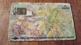Télécarte Polynésie  Pf25 LES PECHEURS 30UT - Polinesia Francese