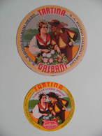 2 Etiquettes Fromage Fondu - TARTINA - 2 Portions Egidio Galbani à Melzo - Italie  A Voir ! - Cheese