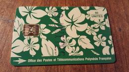 Télécarte Polynésie  Pf18b Paréo Vert Brillante 9 N°rouge 60UT - Polynésie Française