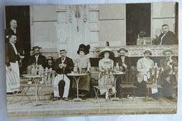 CARTE POSTALE PHOTO 62 MERLIMONT PLAGE TERRASSE D'UN CAFE Photo Rodien BEAU PLAN - France
