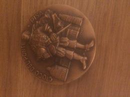 Medaglia Grande Modulo In Bronzo Amici Del Gioco Del Ponte Pisa Incisore: Ciucci - Bronzes