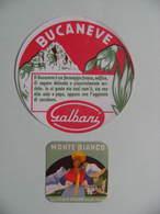 2 Etiquettes Fromage Fondu - Bucaneve&Monte Bianco - 2 Portions Egidio Galbani à Melzo - Italie  A Voir ! - Cheese