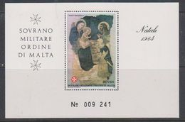 Ordine Di Malta 1984 Christmas M/s ** Mnh (38577) - Malta (Orde Van)