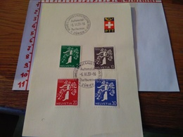144263 FOGLIETTO DI FRANCOBOLLI STAMPS SVIZZERA  PTT 1939 - Schweiz