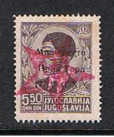MONTENEGRO - OCC. STRANIERA:  1943/44  SOPRASTAMPA  STELLA  GRANDE  -  5,50 D. BRUNO  S.G. -  C.E.I. 8 - Occupation 2ème Guerre Mond. (Italie)