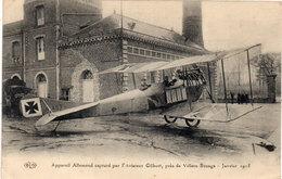 Appareil Allemand Capturé Par L' Aviateur Gilbert, Pres De VILLERS BOCAGE - Janvier 1915 (105660) - 1914-1918: 1. Weltkrieg