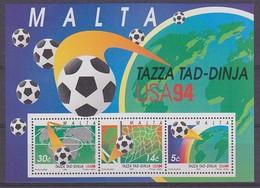 Malta 1994 World Cup USA Football M/s ** Mnh  (38577D) - Malta