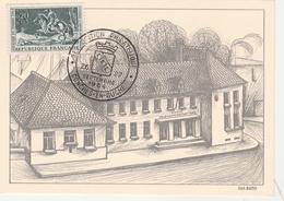 Conches-en-Ouche 1964 - BT Exposition Philatélique - Gravure Du Bureau De Poste - Marcophilie (Lettres)
