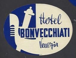 étiquette Valise  -  Hôtel Bonvecchiati  Venezia  (Venise)   Italie - Etiquettes D'hotels