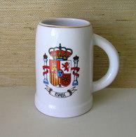 VINTAGE SPANISH BEER STEIN MUG / COAT OF ARMS - Dishware, Glassware, & Cutlery
