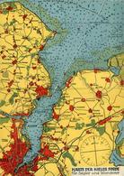 KIEL Le Plan De La Région 15,5 X21cm - Kiel