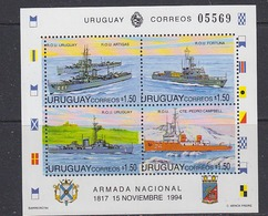 Uruguay 1994 Navy Day / Ships M/s ** Mnh (38578) Promo - Uruguay