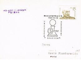 Polen Postkarte Mit Sonderstempel Aus Bialystok Schach - Chess - 1944-.... Republik