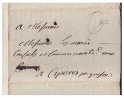 FRANCE -- 1771 -- LETTRE D'AIX POUR CIPIERES PAR GRASSE -- COURRIER ADMINISTRATIF -- - Poststempel (Briefe)