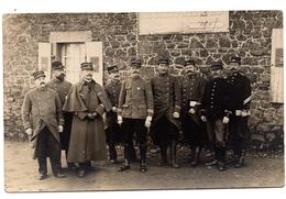 Carte Photo 1914  Plouagat Officiers 132 Et 46 ème RI - Autres Communes