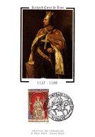 """FRANCE 1999 """" RICHARD COEUR DE LION """" Sur Carte Maximum En Soie. N° YT 3640. Parfait état CM - Non Classificati"""